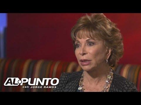 Escritora chilena Isabel Allende habla sobre las denuncias de acoso sexual que han estado saliendo a