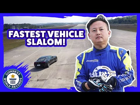 Fastest Vehicle Slalom - Guinness World Records