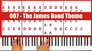 ♫ ORIGINAL - How To Play The James Bond Theme Piano Tutorial Lesson - PGN Piano