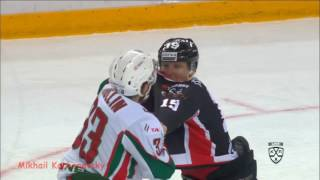 Драка КХЛ Юньков Михаил - Яруллин Альберт Fight KHL Yunkov Mikhail vs Yarullin Albert