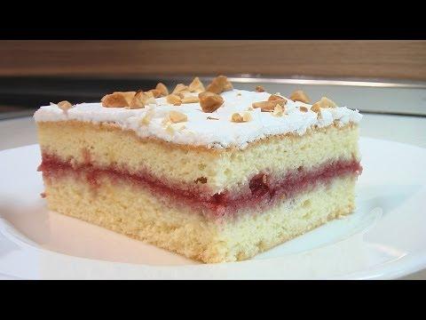 Бисквитное пирожное с вареньем видео рецепт. Книга о вкусной и здоровой пище