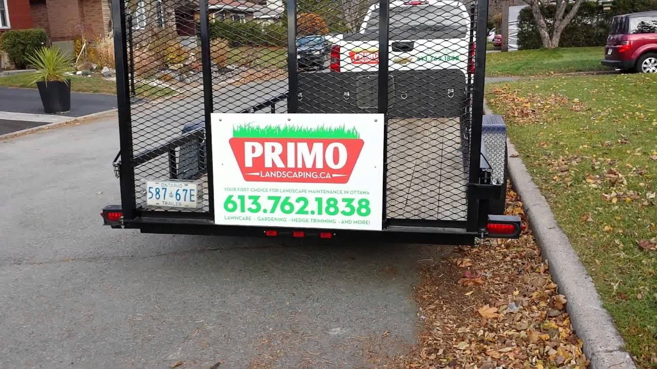 Advertising Lettering On Landscaping And Lawn Care Work