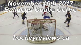 November 16th 2017 Bulldogs Hockey Goalie GoPro