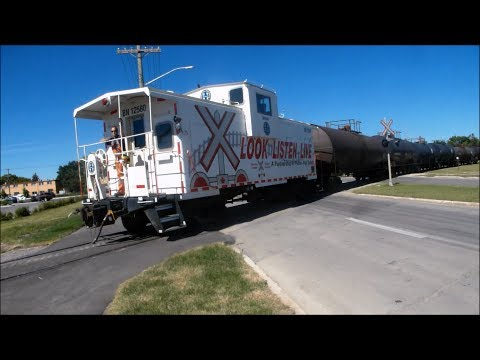 Collection of BNSF trains.