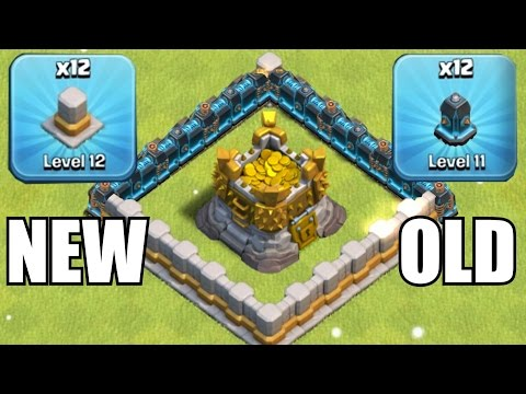 OLD WALLS vs. NEW WALLS!!!🔸GEM SPREE TO LVL 12 UPGRADES!!🔸Clash of clans