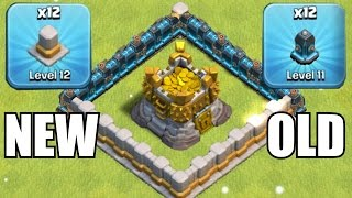 OLD WALLS vs. NEW WALLS!!!🔸GEM SPREE TO LVL 12 UPGRADES!!🔸Clash of clans thumbnail