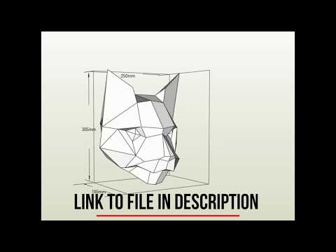 Papercraft 3d, 11x pepakura model, diy paper sculpture - model of paper