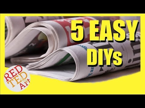 5 DIY Creative Ideas with Newspapers - Newspaper DIYs & Hack