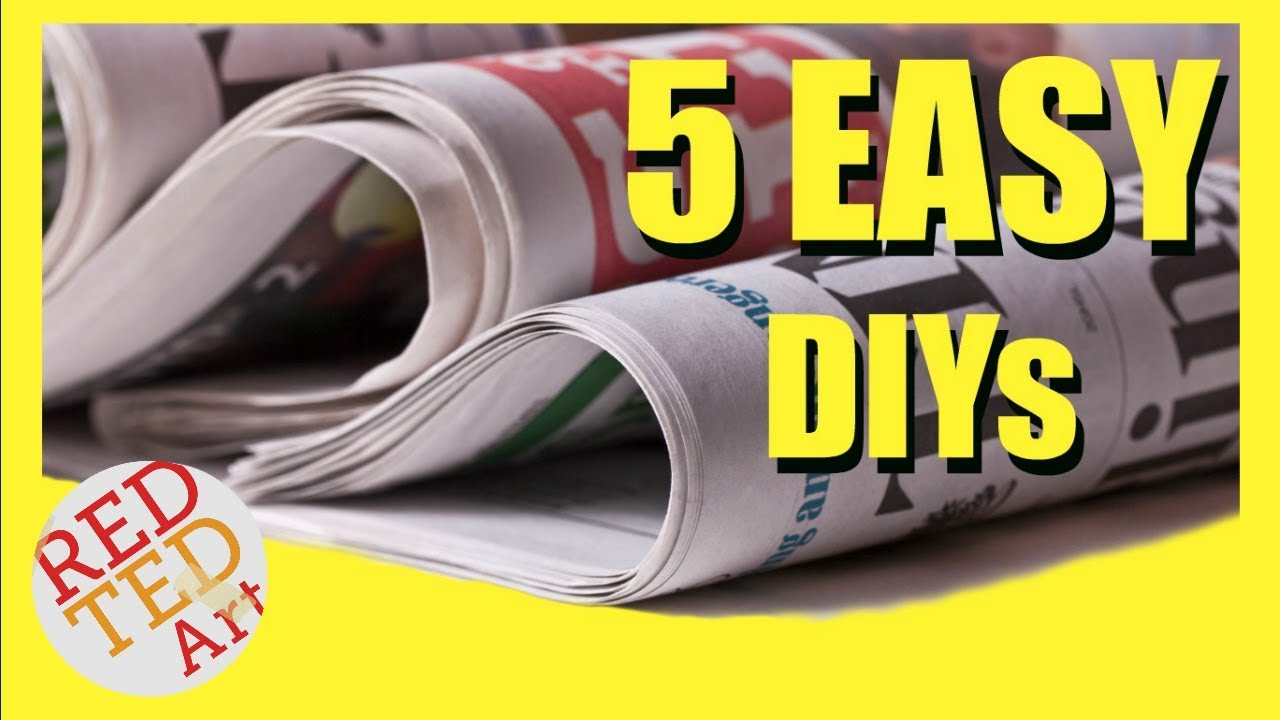 5 Diy Creative Ideas With Newspapers Newspaper Diys Hacks Best