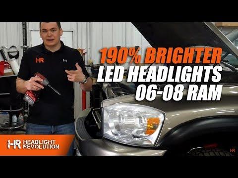 190% BRIGHTER HEADLIGHTS! 06-08 Ram LED Headlight And LED Turn Signal Bulbs Install