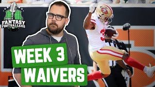 Fantasy Football 2019 - Week 3 Waivers + QB Streamers, Rocks are Rock Hard - Ep. #776
