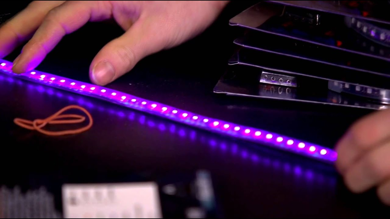 Phobya UV LED Strips Unboxing & First Look Linus Tech Tips - YouTube