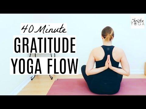 40 Min Yoga Flow for Gratitude | Thanksgiving Vinyasa Flow Yoga Class |  ChriskaYoga