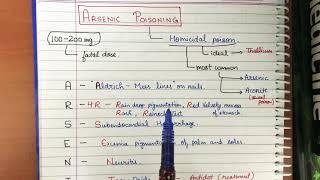 Arsenic Poisoning Mnemonic super easy - toxicology