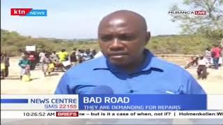 Resident in Murang'a county up in arms over bad road network
