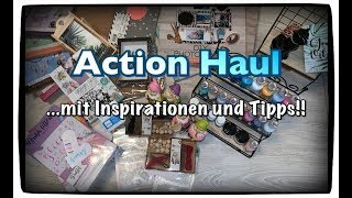 Action Haul (deutsch) Inspiration und Tipps Embossingfolder DIY Sets uvm. Scrapbook basteln