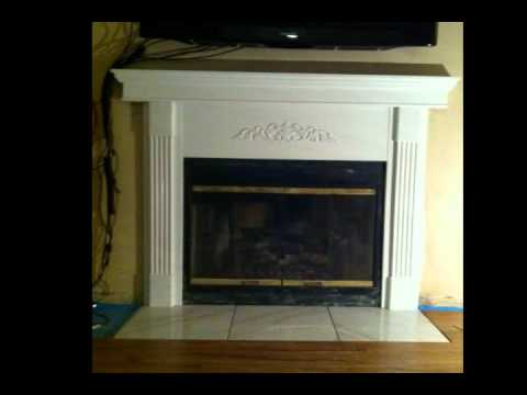 facebook.com/semaj.sapul FIREPLACE MANTEL BEFORE AND AFTER... * ONE MAN SHOW *