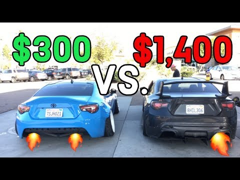 FRS/BRZ: CHEAP Straight Pipe Vs. EXPENSIVE Catback Exhaust!