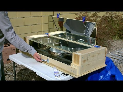 "DIY Advanced Solar Oven! Fully Insulated ""No Turn"" Solar Oven! (real wood, glass and mirror!) 350F+"