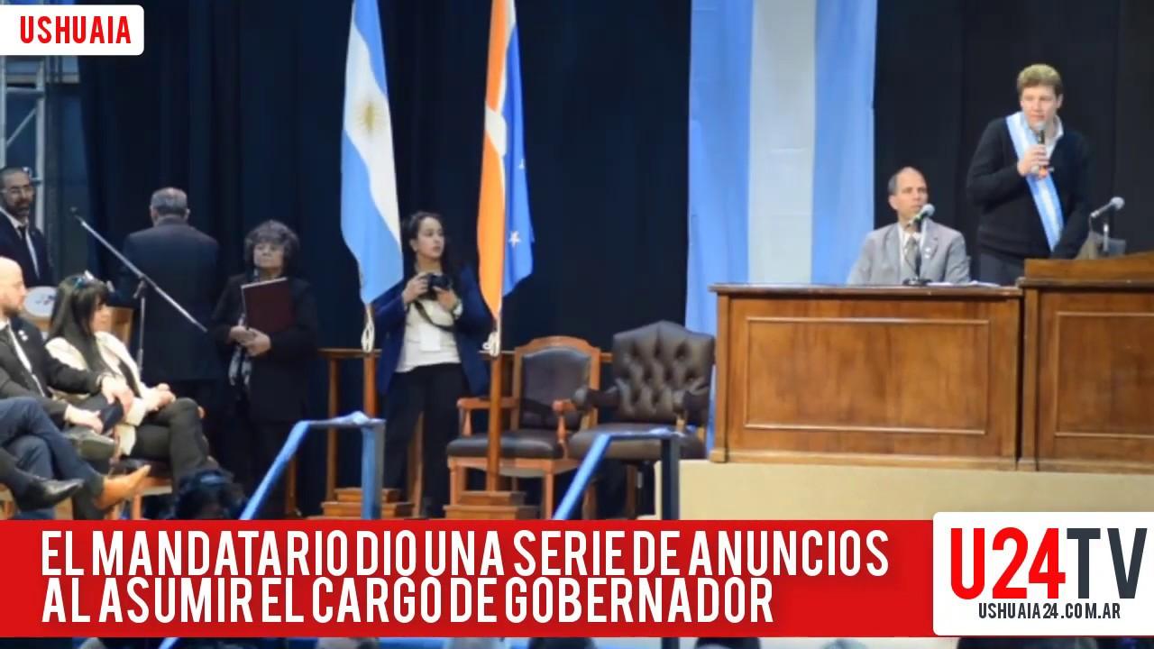 Melella dio su primer discurso como Gobernador de Tierra del Fuego