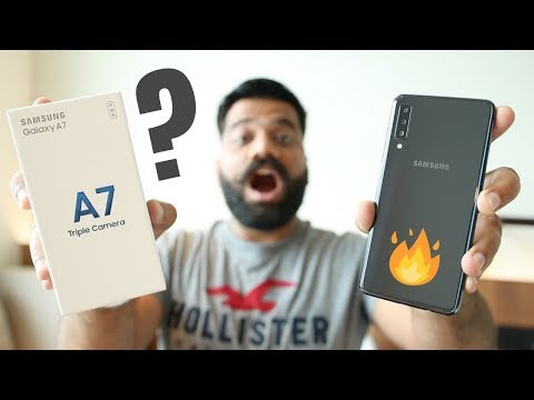 Samsung Galaxy A7 Unboxing & First Look - Triple Camera Monster???📷🔥🔥🔥