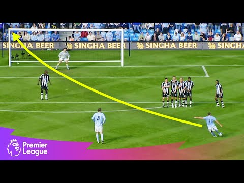 POWERFUL long-range free-kick | Premier League | Classic goals from MW15's fixtures