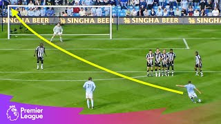 POWERFUL long-range free-kick | Premier League | Classic goals from MW15's fixtures