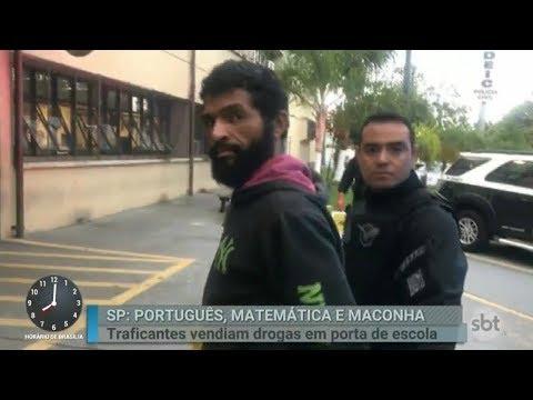 Polícia prende acusados de venderem drogas na frente de escola em SP   Primeiro Impacto (16/02/18)