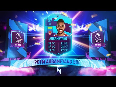 89 RATED POTM AUBAMEYANG SBC! - FIFA 20 Ultimate Team