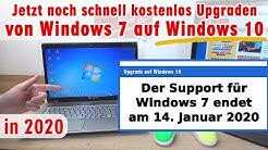 Kostenloses Upgrade von Windows 7 auf Windows 10 ⭐ Jetzt noch schnell installieren
