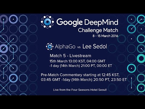 Match 5 – Google DeepMind Challenge Match: Lee Sedol vs AlphaGo