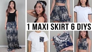 1 MAXI SKIRT 6 DIYS | Sewing Projects