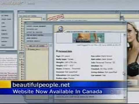 BeautifulPeople.com on CTV net news (1) from YouTube · Duration:  1 minutes 1 seconds  · 1,000+ views · uploaded on 7/23/2008 · uploaded by Kasper Hjorth