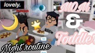 *SINGLE MOM & TODDLER NIGTH ROUTINE* || ROBLOX bloxburg||