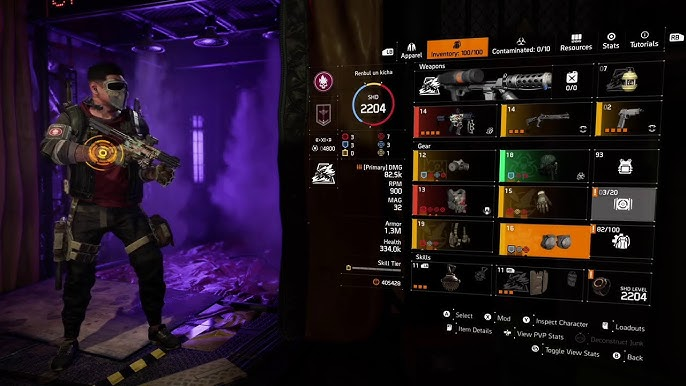 Best Solo Pvp Build Dark Zone Build With Huge Smg Damage And Survivability The Division 2 Tu11 Youtube