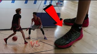 LSK vs LaMelo Ball EVERYONE GETS DUNKED ON! NEW BBB SHOE REVEAL! 5v5 Basketball