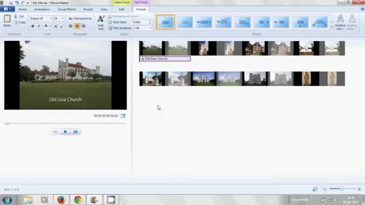 How to make Movie/Video from Pictures with Caption title ...