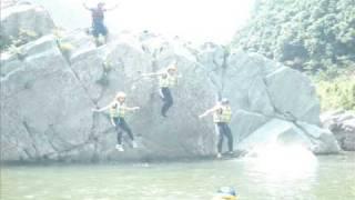 ラフティング Rafting in Shikoku Japan