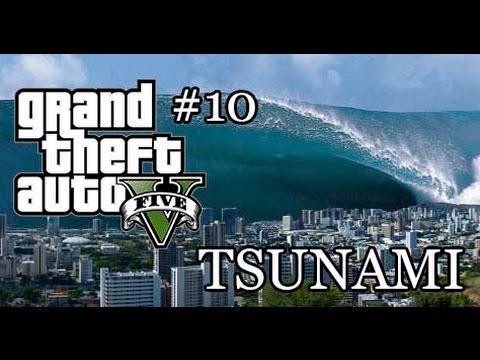 GTA V OFFLINE #10 : สึนามิถล่มเมือง!! Tsunami Mod