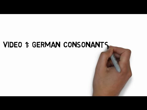 German Pronunciation Video 1: The German Consonants and the IPA