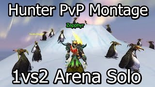 WOW Hunter PvP Montage 1vs2 Arena Patch 5.4.8