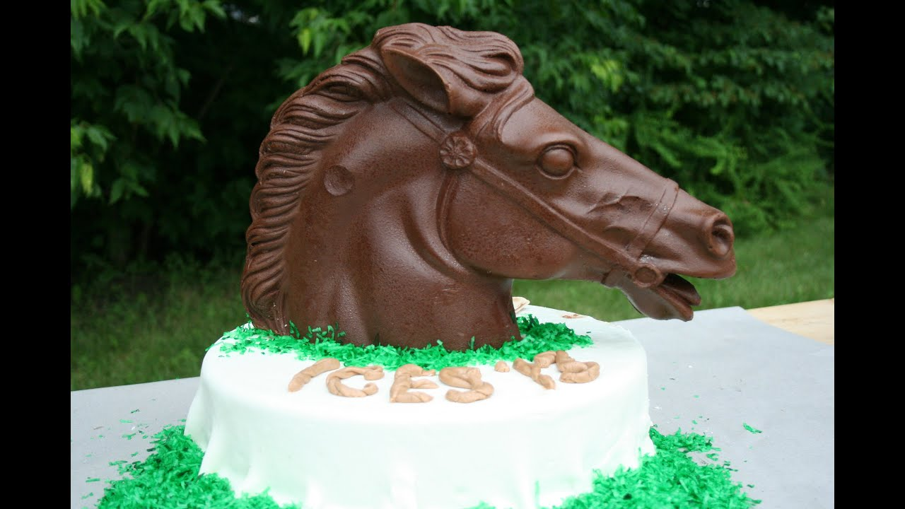 Make a Cake Dark Chocolate Horse Cake Topper YouTube