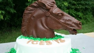 Chocolate Candy Molding Of A Large Rocking Horse