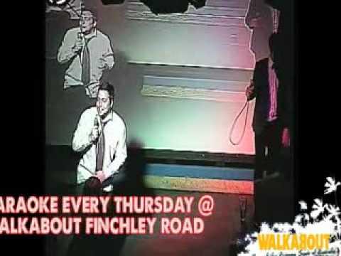 Karaoke Walkabout Finchley Road - Danish Henrik and Jeppe do Numb encore - Henriks last night