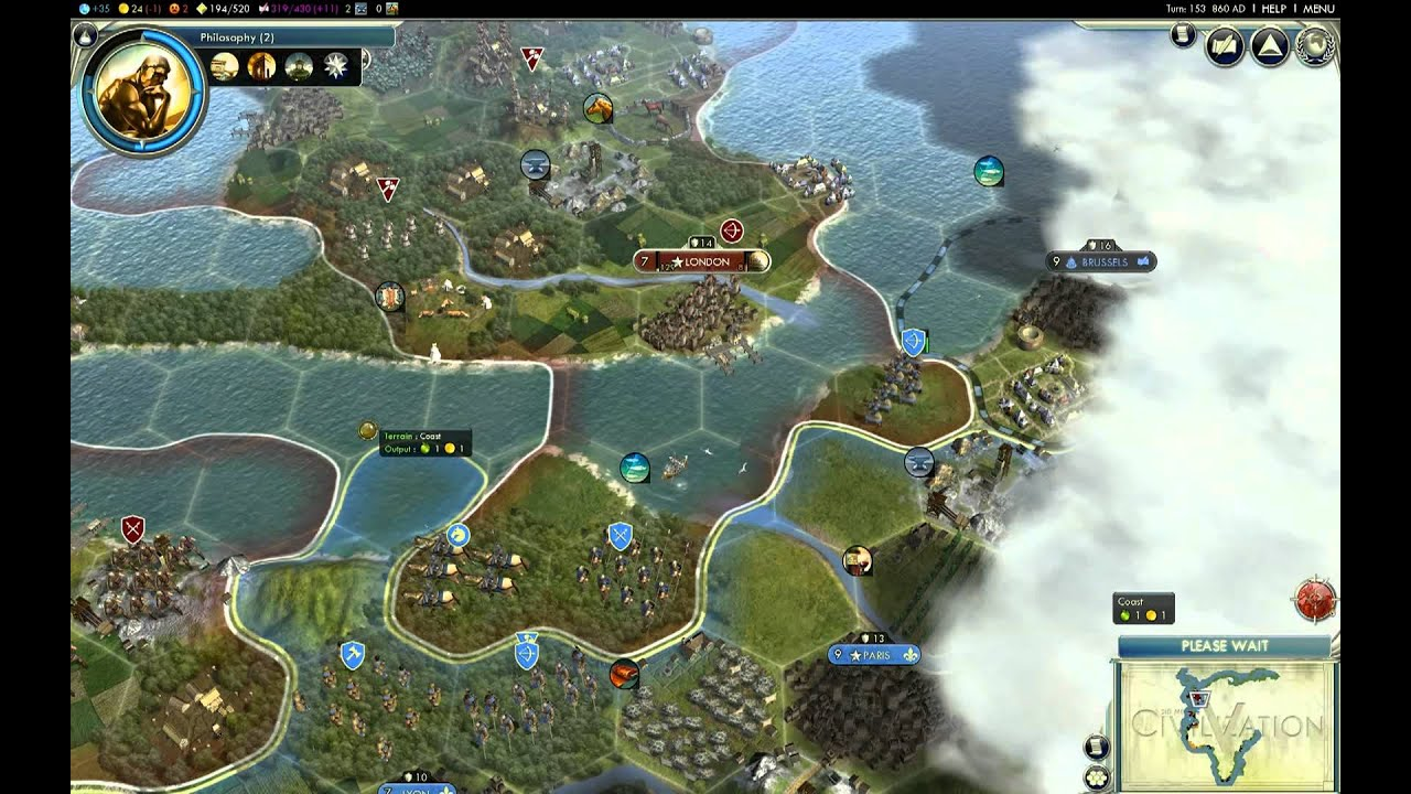 Lets Play Civ 5 England Giant Earth Map Episode 2 clip2 YouTube – Civ 5 World Map
