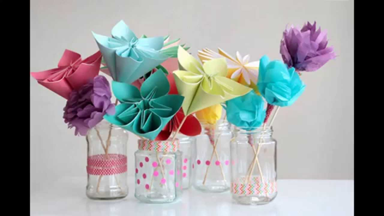 Creative Paper Flower Crafts For Kids
