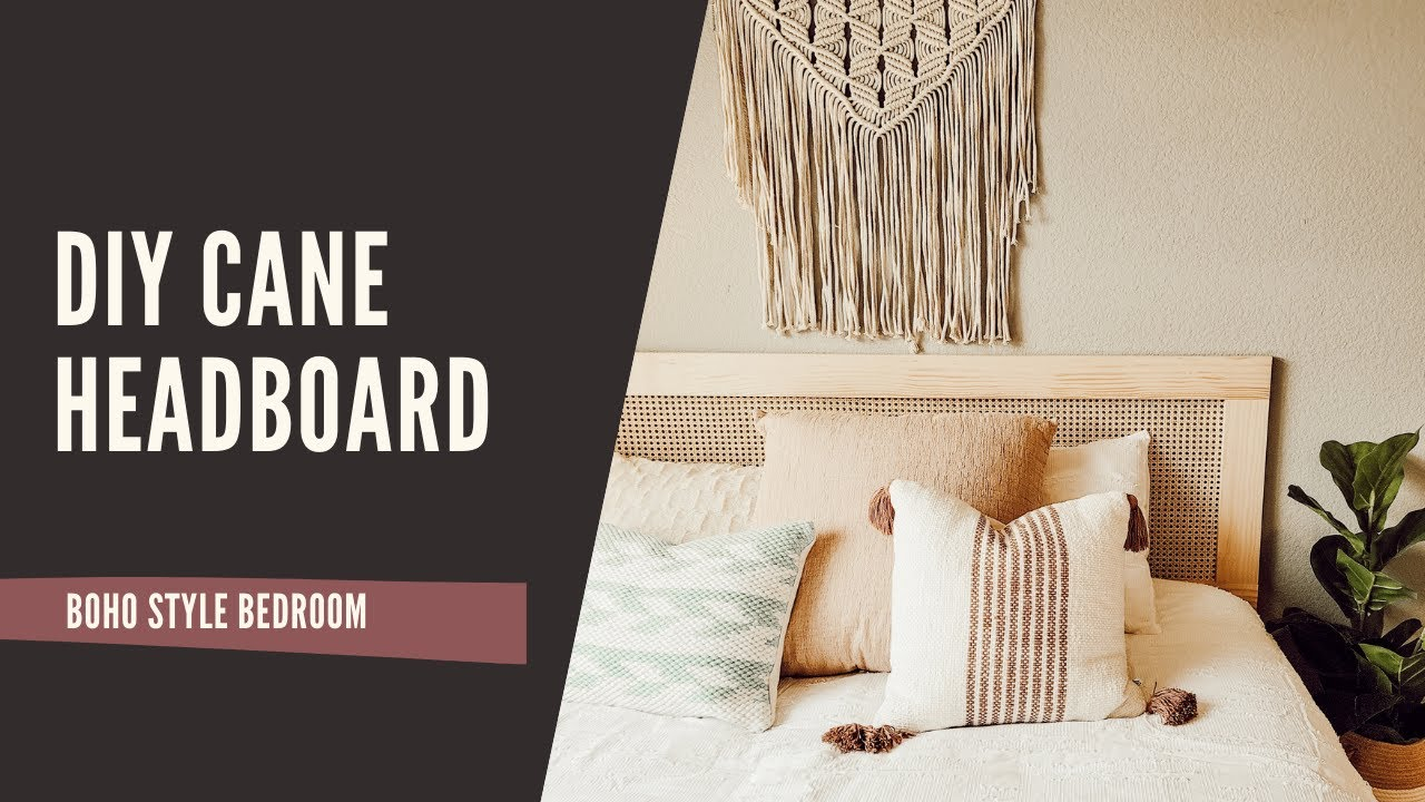 DIY Cane Headboard   Boho Style Bed easy and budget friendly