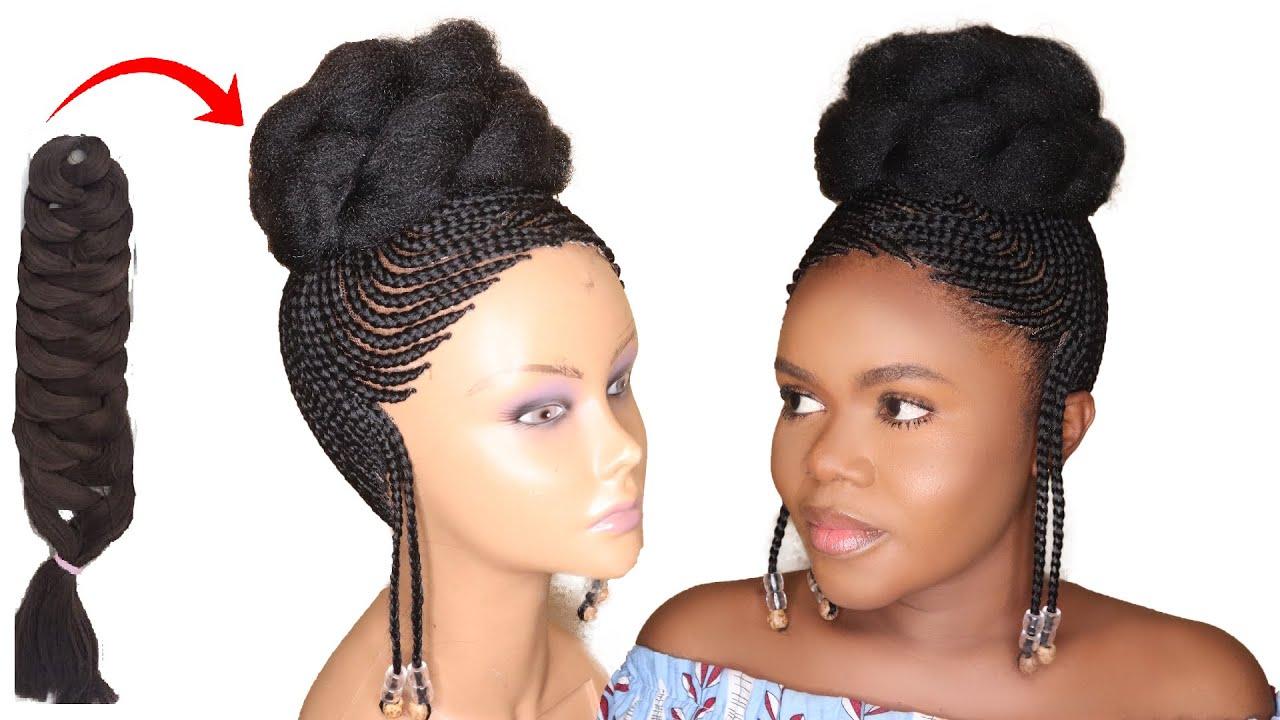 DIY Braided Wig Tutorial Using Expression Braid Extension - No Closure Wig