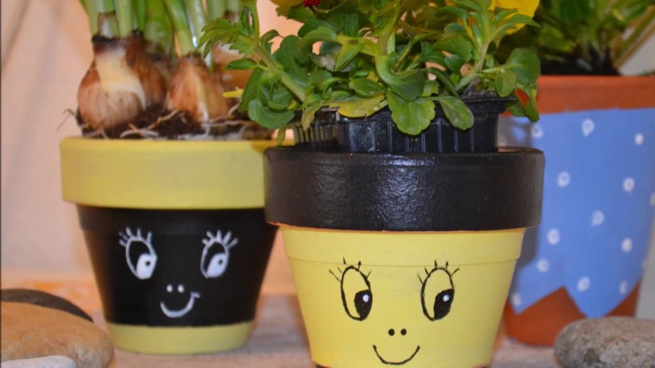 Comment d corer des pots de fleurs printaniers diy - Pot decoratif exterieur ...