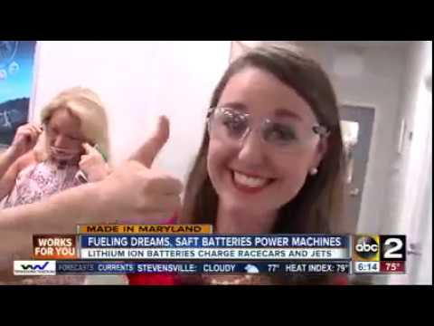 ABC2 News - Fueling dreams, Saft batteries power machines | Made in Maryland